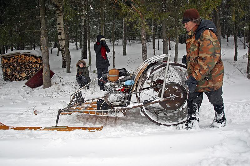 Снегоход своими руками на колесах