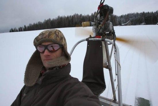 Снегоход своими руками с вентилятором