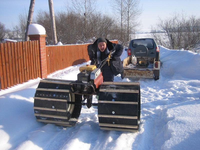 Снегоход из квадроцикла своими руками