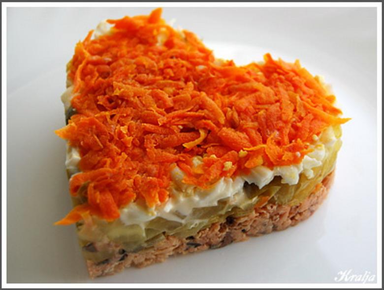 Салат из моркови на новый год