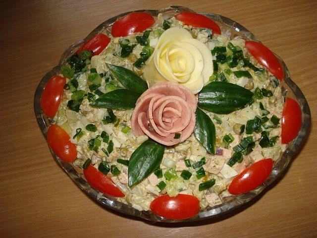 Рецепты салаты фото украсить